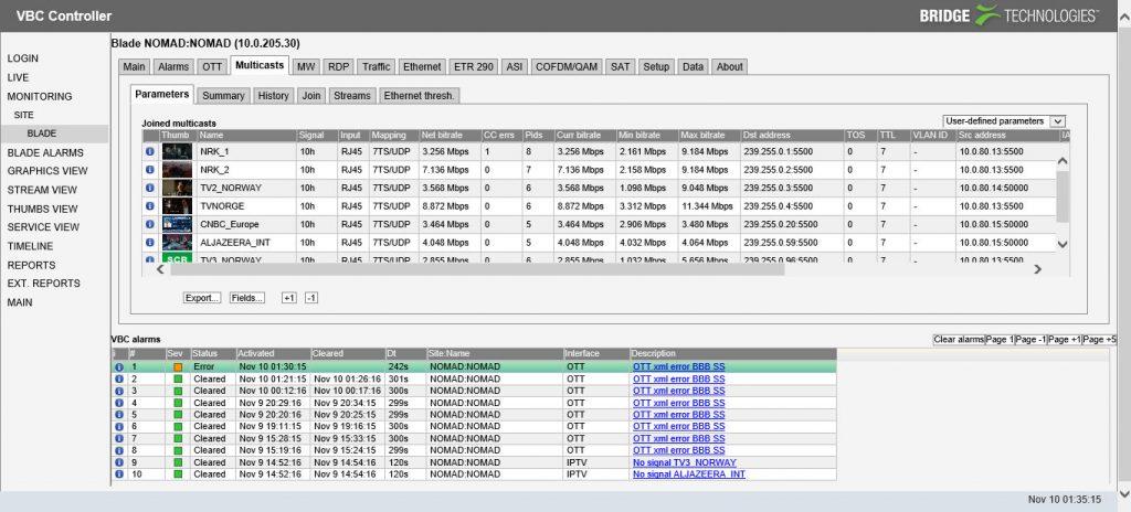 analizador DVB OTT IP NOMAD